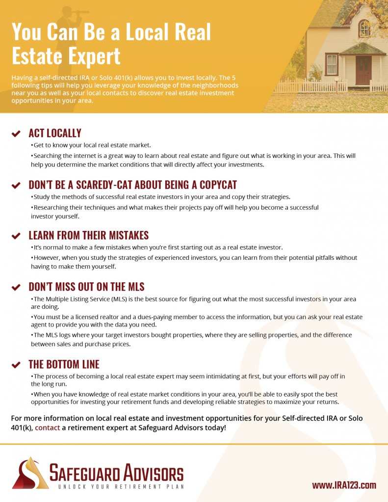 Safeguard - You Can Be a Local Real Estate Expert Checklist